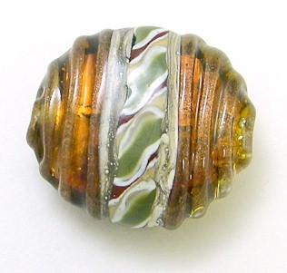 Art Deco Series Bead w/ Handpulled Twistie