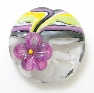 Rubino Oro Flower Echo Bead