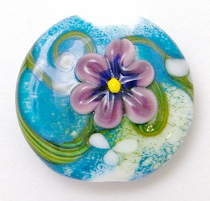 English Garden Series Bead - Pansy