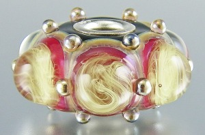 Ruby Storm Large Hole Bead
