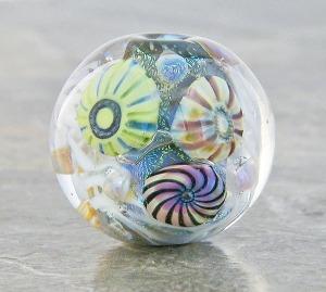 Santa Monica Pier round bead