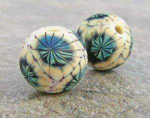 Sea Urchins bead pair
