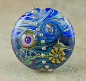 Oceania - lampwork bead focal