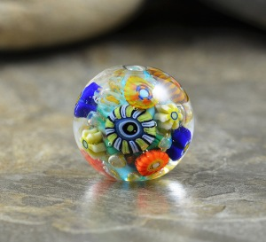 Sunny Meadow - round focal bead