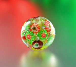 CHRISTMAS SWEATER - bead focal