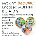 lampwork bead Tutorial, encased murrini bead ebook