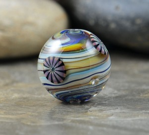 Whirlpool - marble focal bead