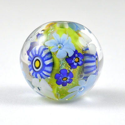 Meadow - large round focal bead