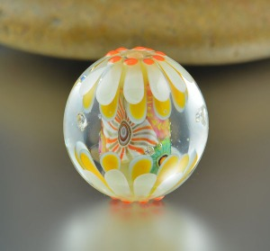 MERMAID'S GROTTO - large round focal bead
