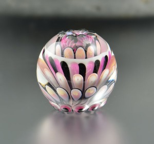 MINI CUPCAKE - round focal bead