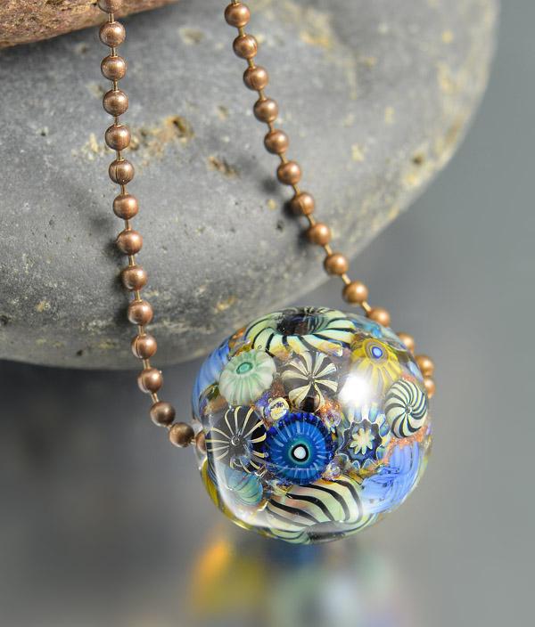 PANAMA REEF - encased murrini bead necklace