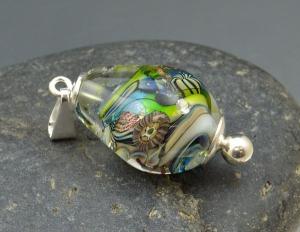 ROSARITO BEACH - lampwork focal bead pendant