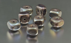 METALLIC NUGGETS - bead set (8)