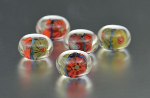 POPPIES - bead set (5)
