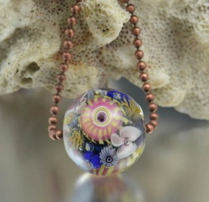 HILO REEF - encased murrini bead necklace
