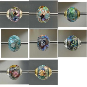 CCGlassArt Encased Murrini Big Hole Beads