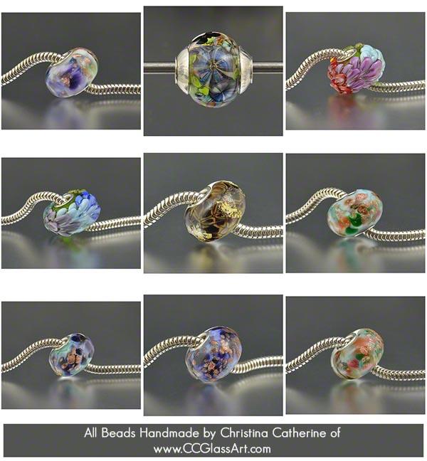 handmade lampwork beads, european charm beads, charm bracelet beads, handmade glass beads, trollbeads style, elfbeads style, pandor beads style, chamilia beads style