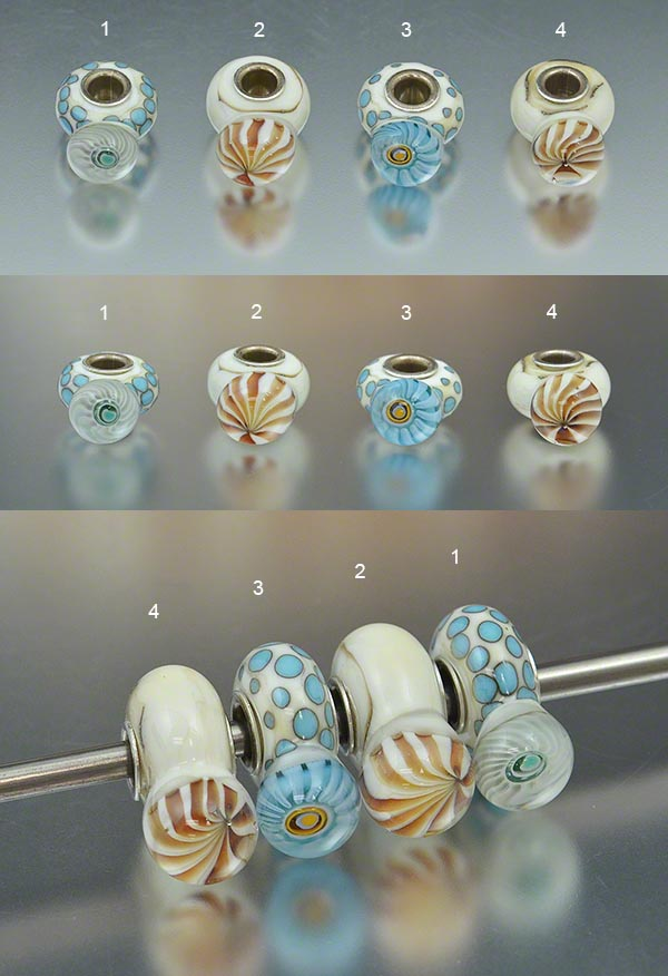 handmade glass big hole beads, european charm beads