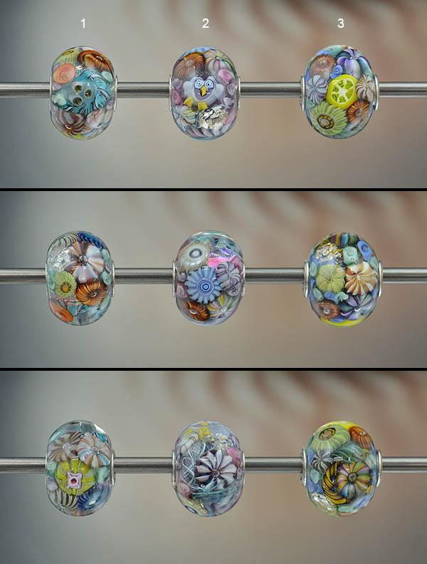 italian glass charm beads, murano glass beads