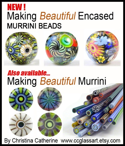 Handmade glass murrini beads by CCGlassArt
