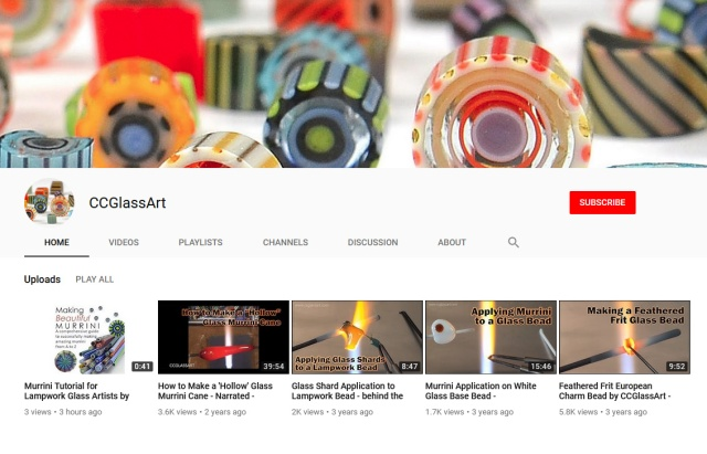 lampwork videos and tutorials on youtube by ccglassart