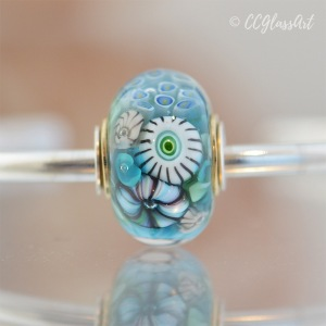 Handmade lampwork glass art bead